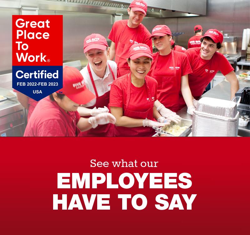 Restaurant Jobs at Five Guys | Five Guys